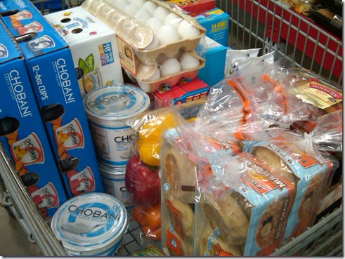 cart full of food