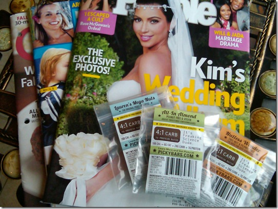 magazines and picky bars