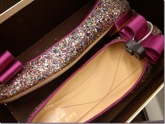 sequined flats