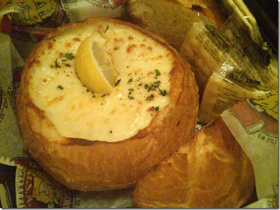 crap dip bread bowl