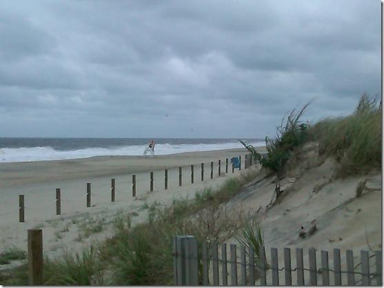 gloomy beach