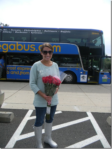 roses and bus