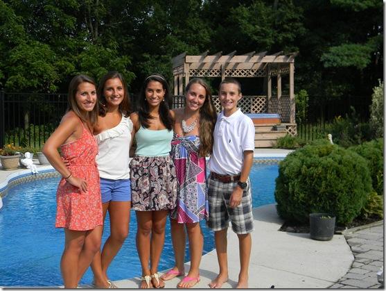 JBW siblings by pool