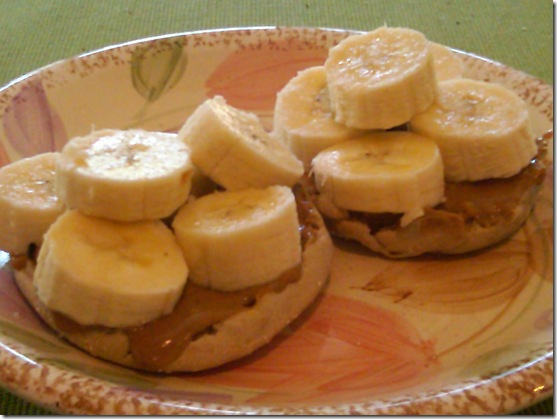 pb and banana muffin